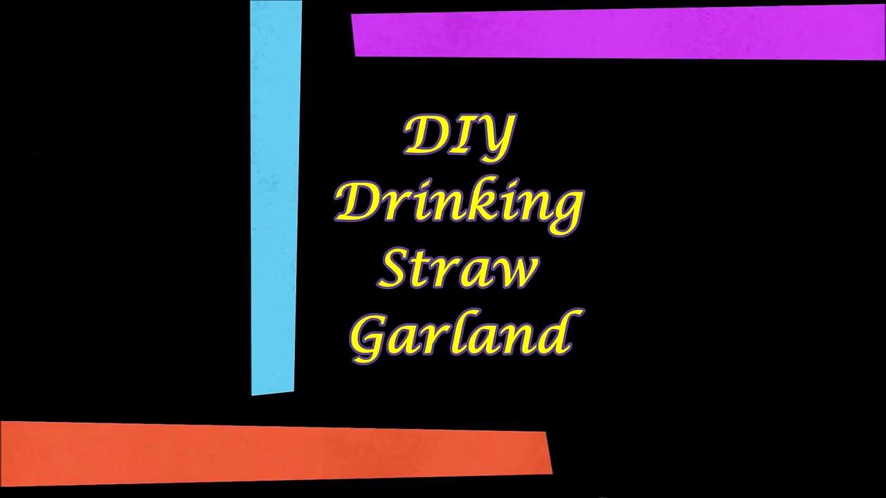 DIY Drinking Str