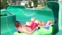 Scary water slide extreme down hill water sl