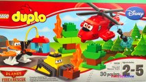 Lego Duplo Planes Fire and Rescue stop motion dusty bulldozer Disney Planes