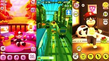 Kids cartoons My Talking Angela vs Talking Tom and Subway surf Colors Level 28 - animated series,Cartoons animated anime game 2017