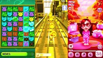 Kids cartoons My Talking Angela vs Talking Tom and Subway surf Colors Level 38 - animated series,Cartoons animated anime game 2017
