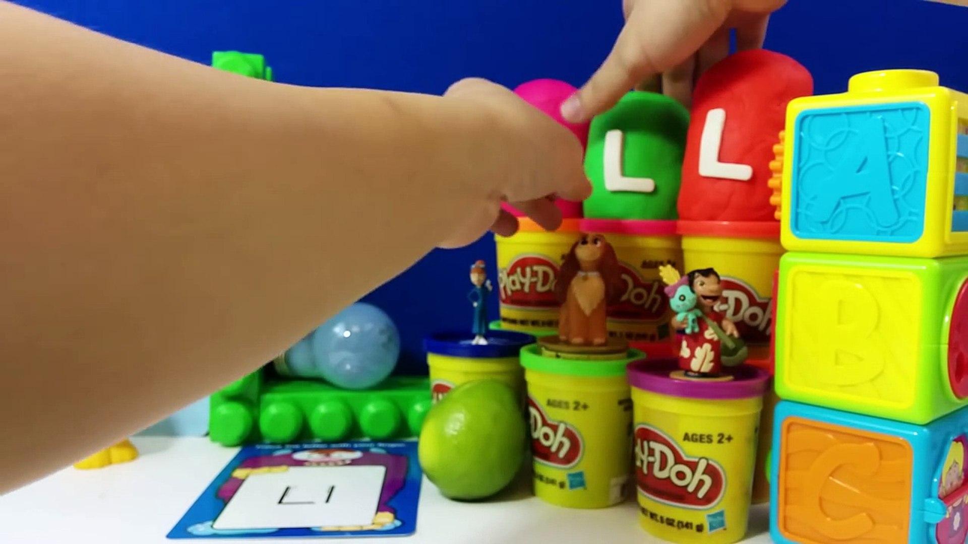 The Letter L with ABC Surprise Eggs - Luke Skywalker Lilo Lightning McQueen Lady Lapras Th