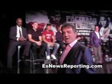 Rocky Stallone Tells Chirs Algieri He IS The Real Rocky! esnews boxing