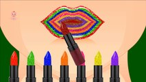 Children Learn Colors with Crazy Lipstick Colors   Best Lipstick Learning Colors Videos for Babies