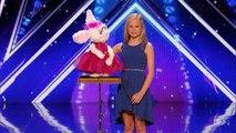 La performance incroyable de cette jeune ventriloque dans America's Got Talent
