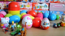 30 Surprise Eggs Kinder Surprise Hello Kitty Spiderman Disney Princess Thomas and Friends