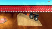 Monster truck _ Wheels on the monster trucks go round and round _ Nursery rhymes-Yyp_l0XF3Gw