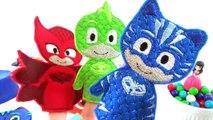 Pj Masks Play Doh ♥ PJ Masks Play Doh Surprises Gekko, Catboy and Owlette