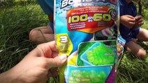 BATAILLE DE BOMBES À EAU ! - 300 bombes à eau en 60 secondes avec Bomb A-O Bunch O Balloons