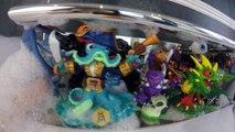 COIFFURES EN MOUSSE et Pêche Surprise de Skylanders dans un Bain de Mousse Géant