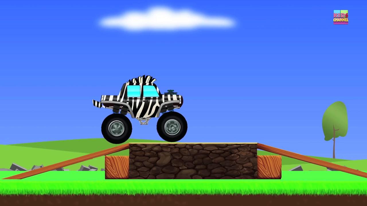 Monster Trucks | Zebra Trucks | Car And Truck