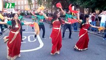 Tigers welcomed with dance, music in Oval