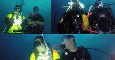 Pakistani Guy Breaks Fast & offered prayers 160 feet deep in the Red Sea ,Jeddah KSA.
