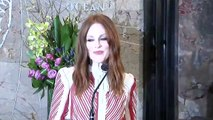 Julianne Moore Promotes Gun Violence Awareness Day At The Empire State Building In NYC