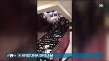 Incroyable scène dans un lycée en Arizona pour fêter la fin de l'année scolaire - Regardez