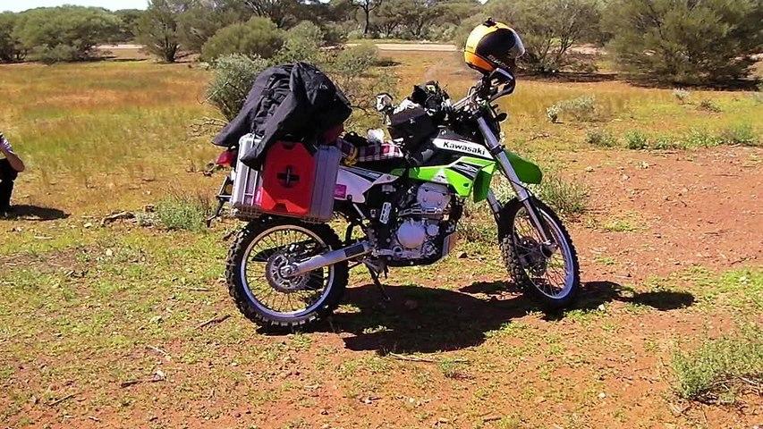 Traversée du désert Australien à moto