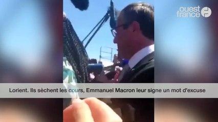 Lorient. Ils sèchent les cours, Emmanuel Macron leur signe un mot d'excuse