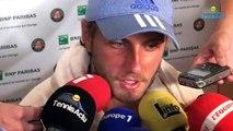 """Roland-Garros 2017 - Lucas Pouille : """"Des crampes liées au stress"""""""