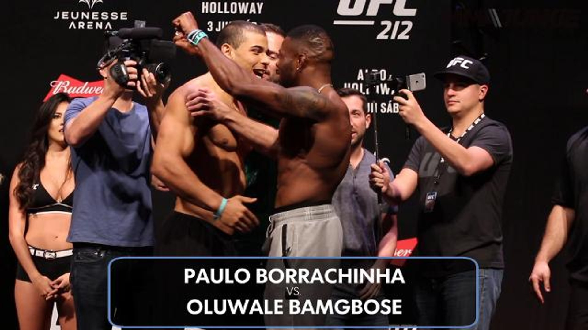 Paulo Borrachinha and Oluwale Bamgbose scrap at UFC 212 ceremonial weigh-ins