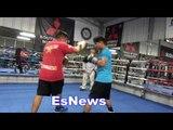 Mikey Garcia vs Adrien Broner - Pita Working Mitts With Mikey EsNews Boxing