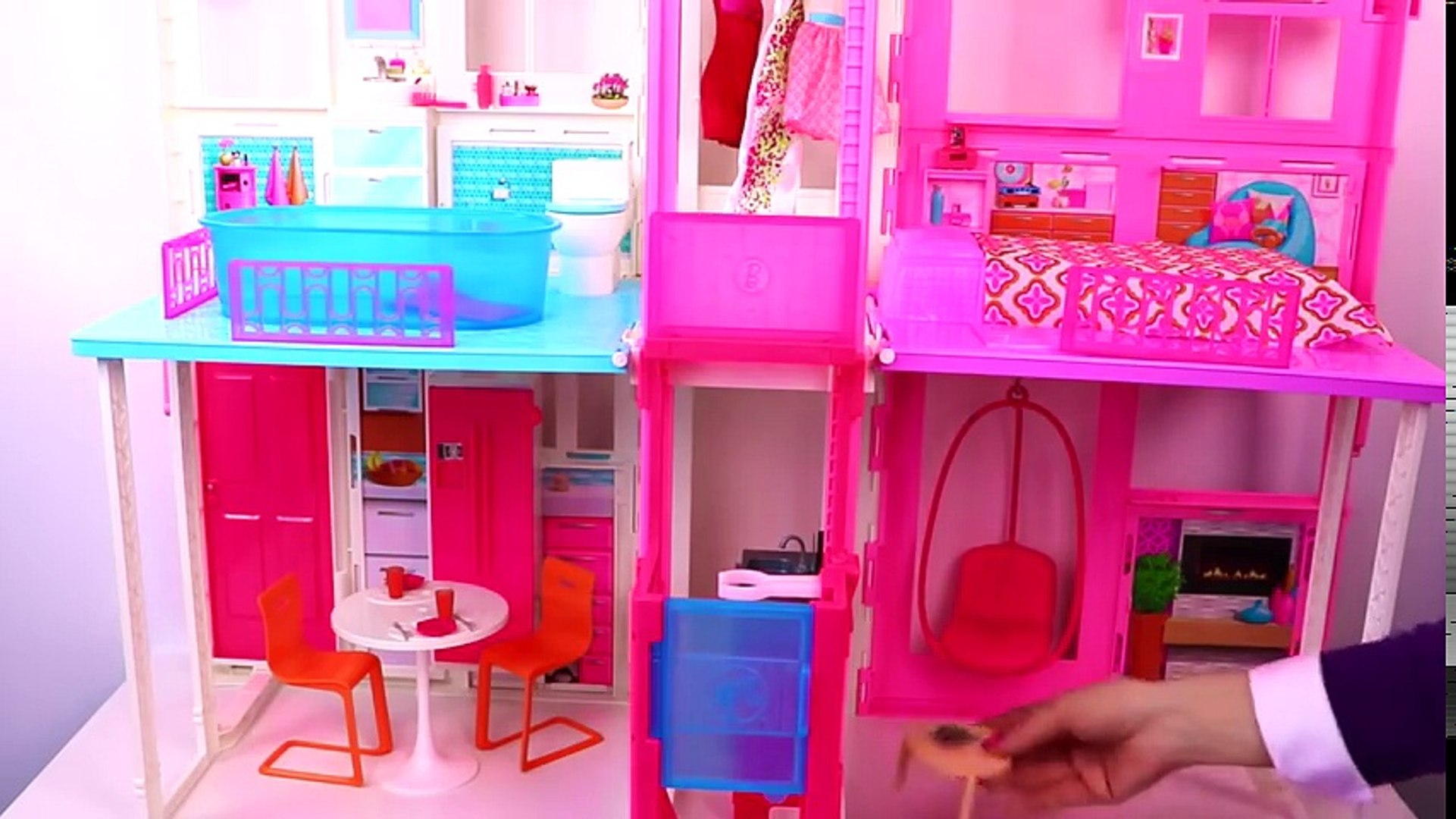 Glam Barbie Doll House Tour Kids How To Set Up Barbie House Mansion Toy Play For Girls Video Dailymotion