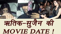 Hrithik Roshan and Sussanne Khan SPOTTED on MOVIE DATE | FilmiBeat