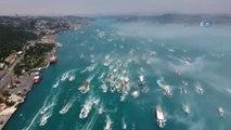 Beşiktaş'ın Şampiyonluk Kutlamaları Havadan Görüntülendi