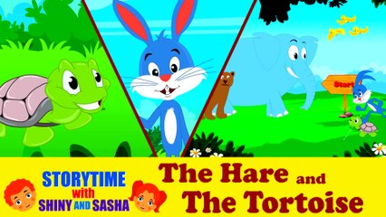 The Hare and The Tortoise | Moral Stories for Childrens | Storytime With Shiny and Sasha
