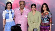 Sridevi's Daughters Jhanvi Kapoor And Khushi Kapoor At Mom Trailer Launch