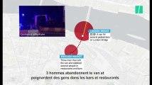 Attentats de Londres : le déroulé des évènements expliqué avec une carte