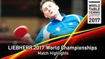 2017 World Championships Highlights I Tomokazu Harimoto vs Lubomir Pistej (R16)
