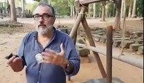 Patrice Pooyard en tournage avec Erik Gonthier a Angkor Vat (Cambodge)