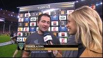 Franck Azéma après la victoire de Clermont en finale du Top 14