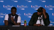 Postgame Interview Kevin Durant Draymond Green #2 Cavs vs Warriors Game 2 2017 NBA Finals