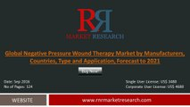 Global Negative Pressure Wound Therapy Market – Demand, Sales Forecasts, Share and Size 2016- 2021