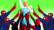 Frozen Elsa & Spiderman CAKE PRANK! w_ Maleficent Joker Princess Anna Spidergirl IRL! Superhero Fun