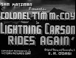 Lightning Carson Rides Again (1938) TIM McCOY