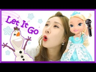 "Disney's Frozen Snow Glow Elsa Doll ""Let it go"" in 6 different languages! 