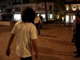 Angers :France Angleterre Demonstration Rugby in Street