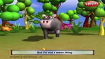 Hippopotamus |  3D animated nursery rhymes for kids with lyrics | popular animals rhyme for kids | Hippopotamus song | Animal songs | Funny rhymes for kids | cartoon | 3D animation | Top rhymes of animals for children