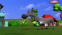 Donkey | 3D animated nursery rhymes for kids with lyrics | popular animals rhyme for kids | Donkey song | Animal songs | Funny rhymes for kids | cartoon | 3D animation | Top rhymes of animals for children