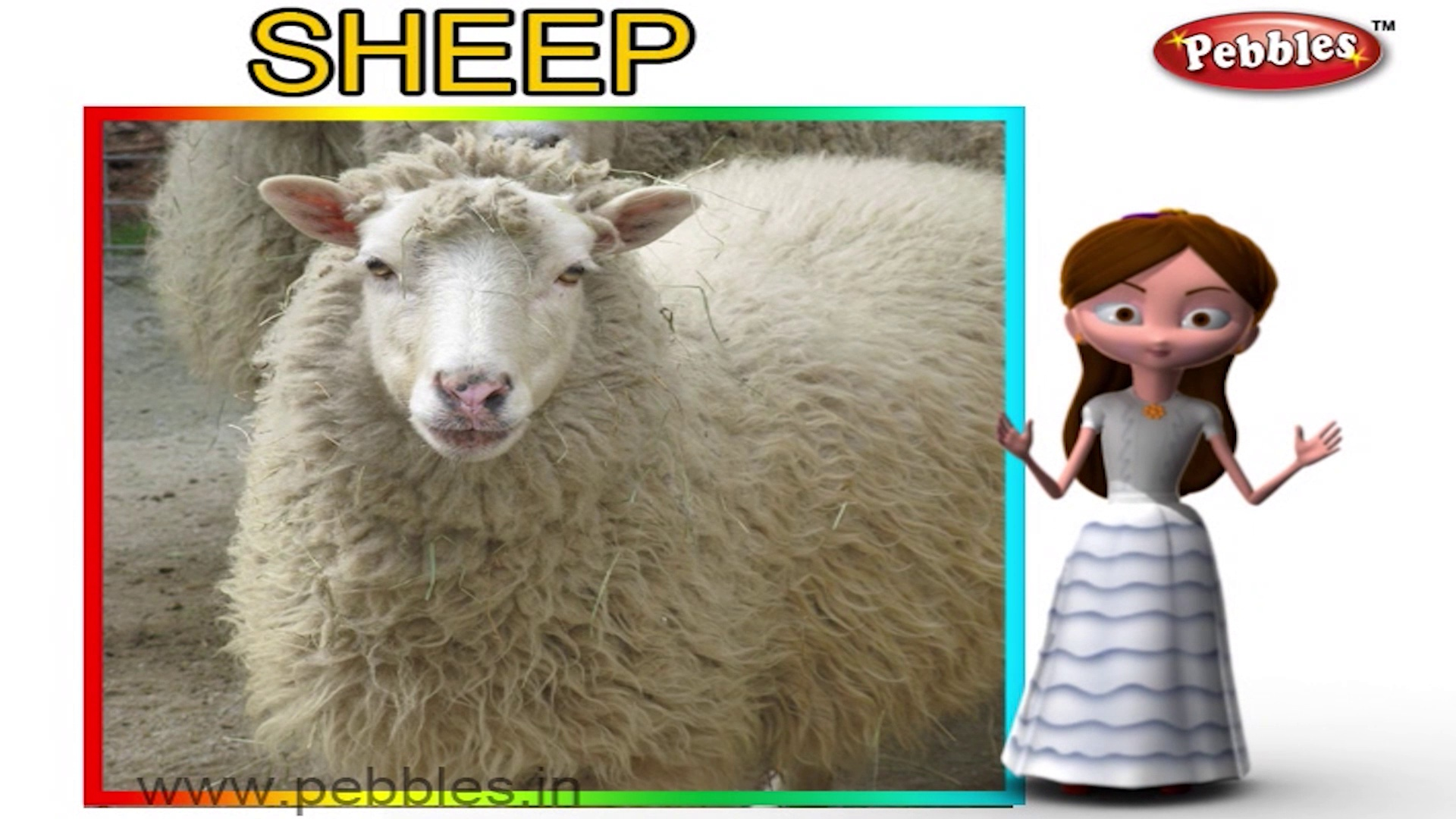 Sheep | 3D animated nursery rhymes for kids with lyrics | popular animals rhyme for kids | Sheep song | Animal songs | Funny rhymes for kids | cartoon | 3D animation | Top rhymes of animals for children