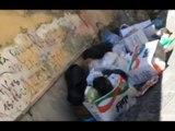 Aversa (CE) - Rifiuti in Via Riccardo d'Aversa (05.06.17)