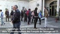 Législatives: Macron en tête chez les Français de l'étranger