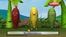 Banana | 3D animated nursery rhymes for kids with lyrics  | popular Fruits rhyme for kids |  banana song | fruits songs | Funny rhymes for kids  | cartoon | 3D animation | Top rhymes of Fruits for children
