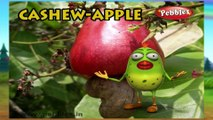 Cashew Apple | 3D animated nursery rhymes for kids with lyrics  | popular Fruits rhyme for kids | cashew song | fruits songs | Funny rhymes for kids  | cartoon | 3D animation | Top rhymes of Fruits for children