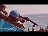 Enfrentamiento entre pescadores y policías en Chile