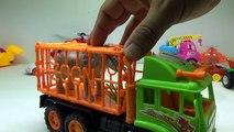 Et bébé vache léléphant pour enfants un camion vidéo Transport de zoo studio |