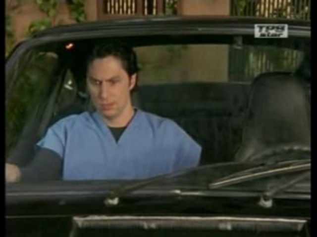 Scrubs Saison 5 JD dans la voiture de Cox