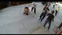 Un jeune homme frappe un vieil homme de 91 ans avec une canne (Vidéo)